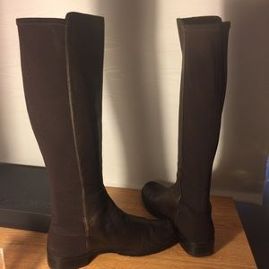 Stuart Weitzman chocolate leather riding boots